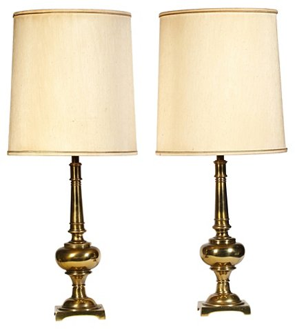 2 B Modern 1960s Stiffel Brass Table Lamps Pair One Kings Lane 525 In 2020 Brass Table Lamps Stiffel Decorative Table Lamps