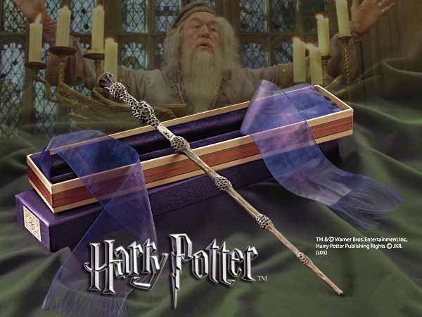 Varita de Sauco Dumbledore Harry Potter con caja