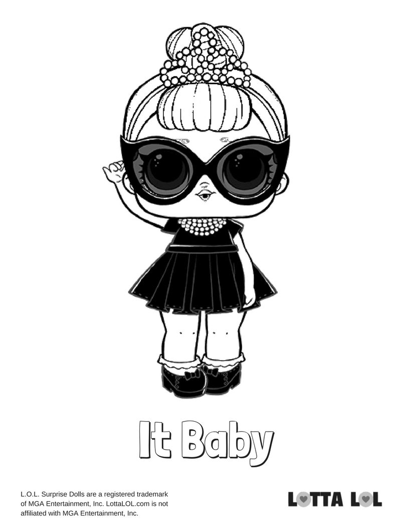 It Baby Coloring Page Lotta Lol Lol Dolls Coloring Pages Animal Coloring Pages