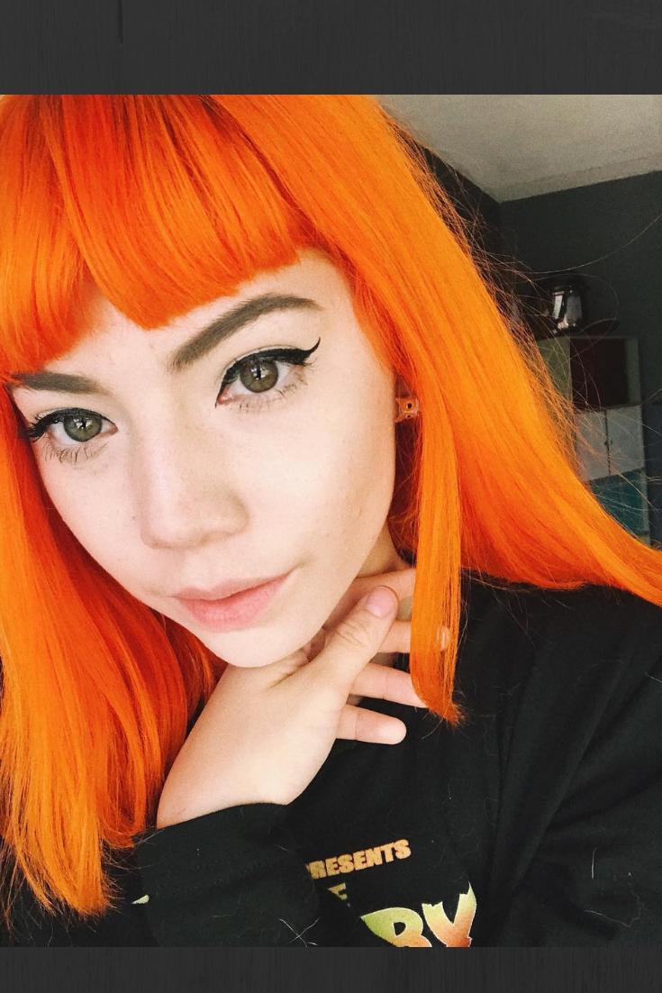 Arctic Fox Hair Color Karinathemermaid Is Flawless In This Tangerine Color She Used Arcticfoxhaircolor In Sun Hair Color Orange Fox Hair Dye Orange Hair Dye