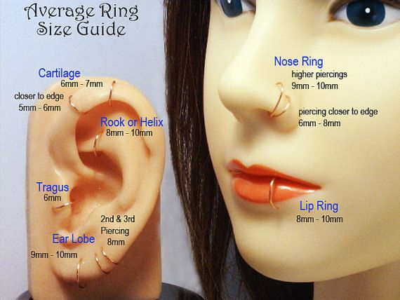 76c21850a35d2 Pink Rose Gold Hoop Earring Cartilage Tragus Helix Eyebrow Nose Ring ...