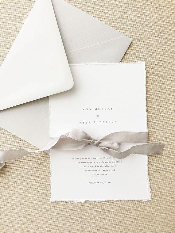 Handmade Paper Wedding Invitation Minimalist Wedding Invitations Save The Dates Wedding Invites Programs Menus Amy Sample Simple Wedding Invitations Inexpensive Wedding Invitations Minimalist Wedding Invitations