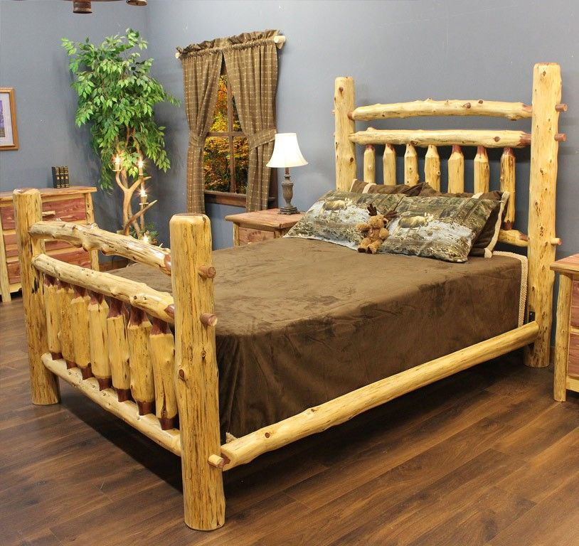 cedar wood bed frame red cedar arkansas post log bed jhes log furniture place