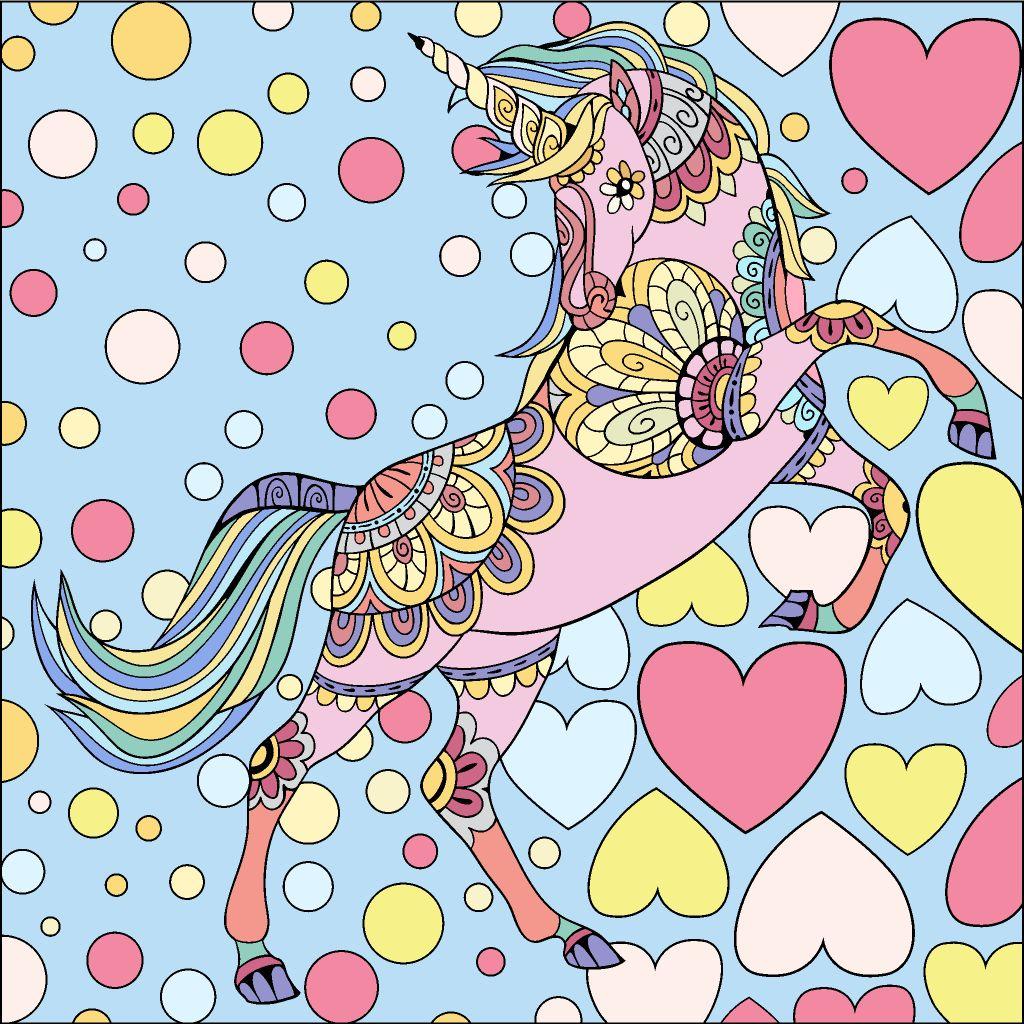 Pastel Unicorn Colorful Art Happy Colors Coloring Apps