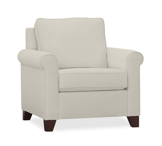 Cameron Upholstered Roll Arm Armchair | Pottery Barn