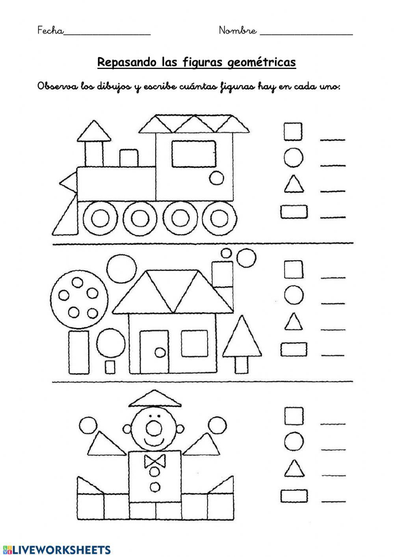 Geometria Interactive Worksheet Kids Math Worksheets Preschool Worksheets Shapes Worksheets [ 1413 x 1000 Pixel ]