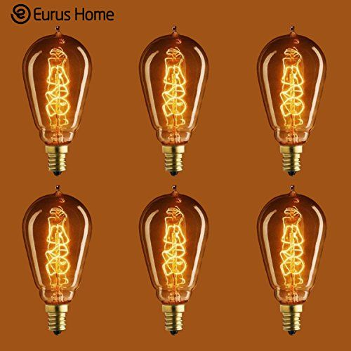 Eurus Home 25 Watt Vintage Antique Light Bulb St15 Edison Style Candelabra Base Handwound Spiral Tungsten Filamen Antique Light Bulbs Light Bulb Candelabra
