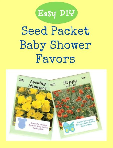 Flower Seed Packets An Inexpensive Baby Or Bridal Shower Favor