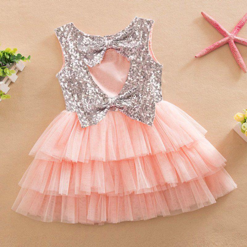New Baby Girl Summer Layered Tutu Dress Kids Sleeveless Hollow Out ...