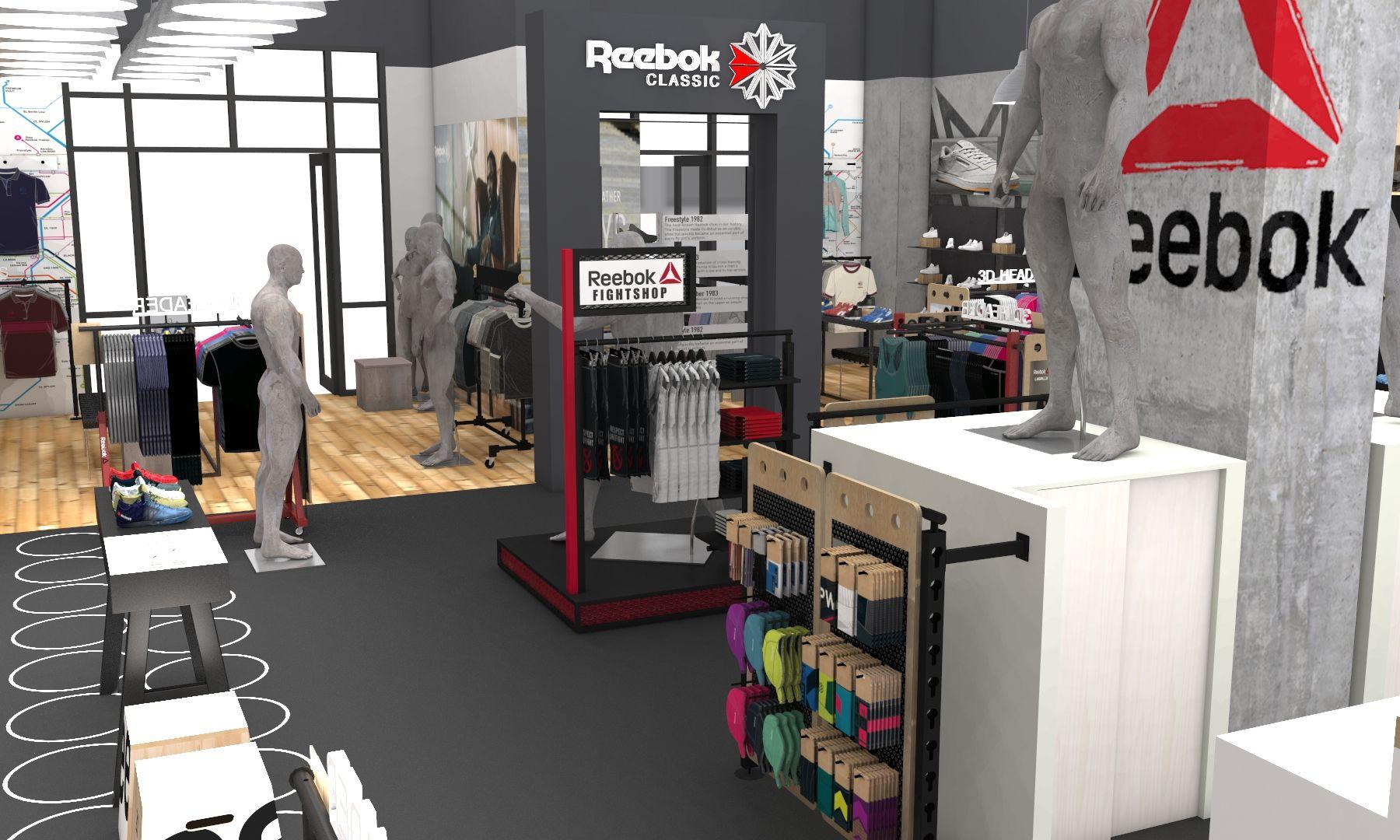 Dubai mall Reebok Fithub refresh Store plan, Retail