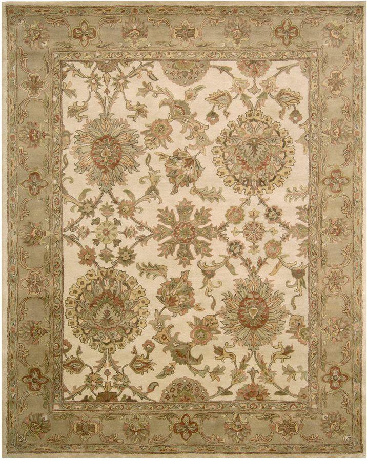 nourison rajah shanti ivory 9 6 x 13 6 area rug products rh pinterest com