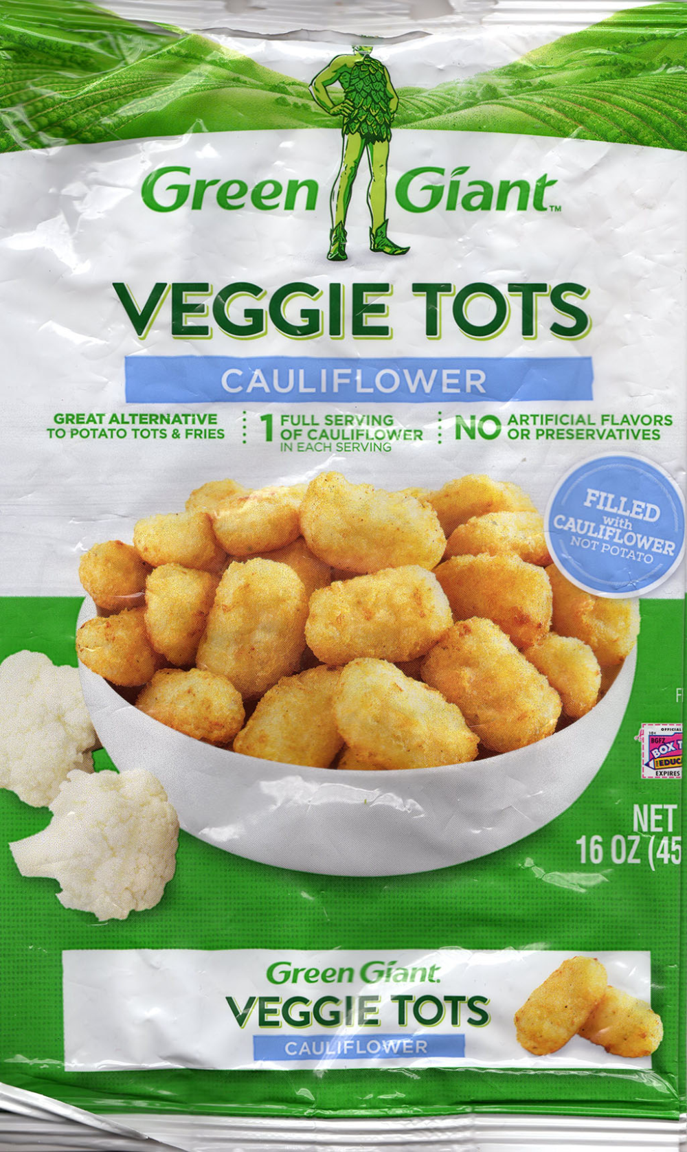 How to make Green Giant cauliflower tots in an air fryer