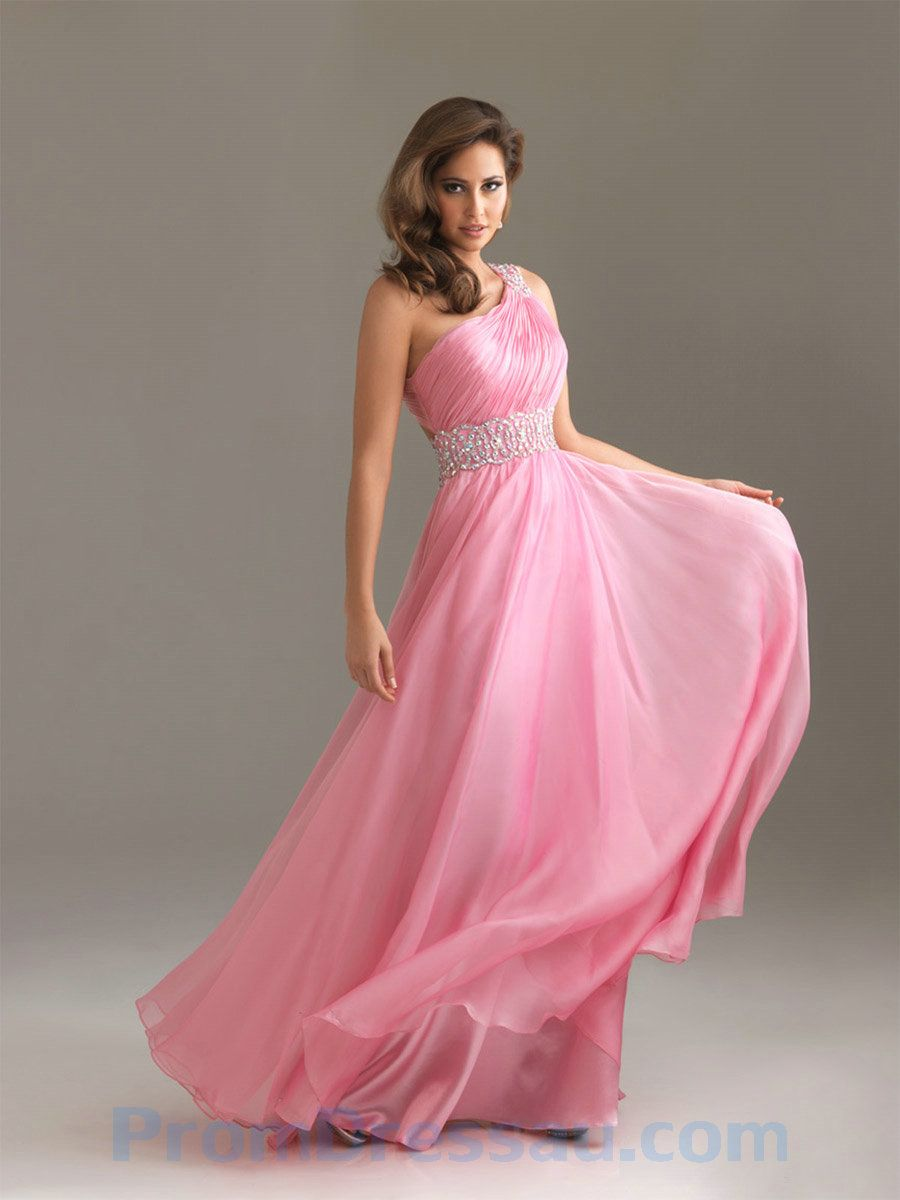 One Shoulder Beaded Chiffon Pink. Bridesmaids dress? | One Day <3 "|900|1200|?|8afae05c114dcbe417cfdd41bc21e438|False|UNLIKELY|0.346522718667984