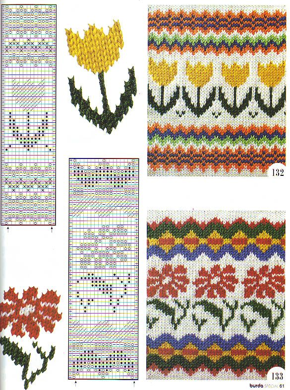 Motivo escandinava | Knitting - Charts | Pinterest | Bordado, Croché ...