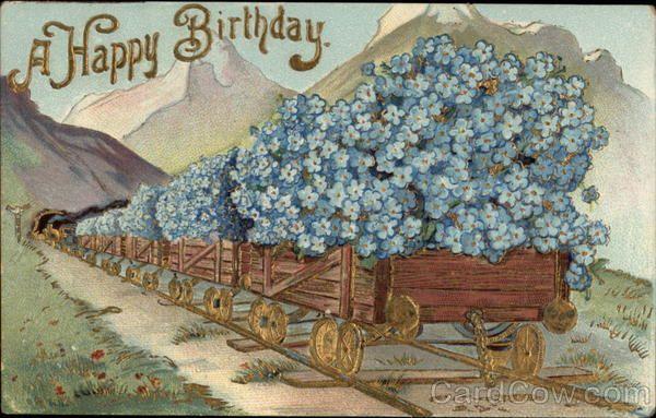Открытки скрапбукинга, старинные открытки на английском с днем рождения