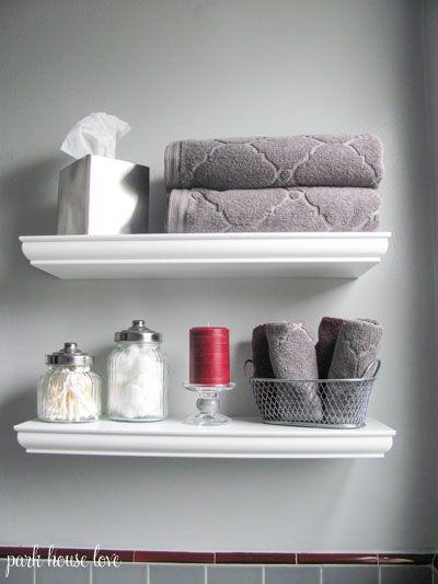Decorating With Bathroom Towels Floating Shelves Bathroom