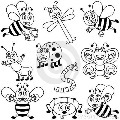 funny fly insects coloring pages - photo#25