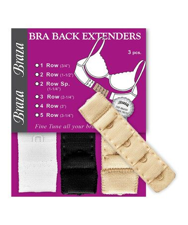 Take a look at this White, Black & Beige One-Hook Bra Back Extender Set by Braza on #zulily today!