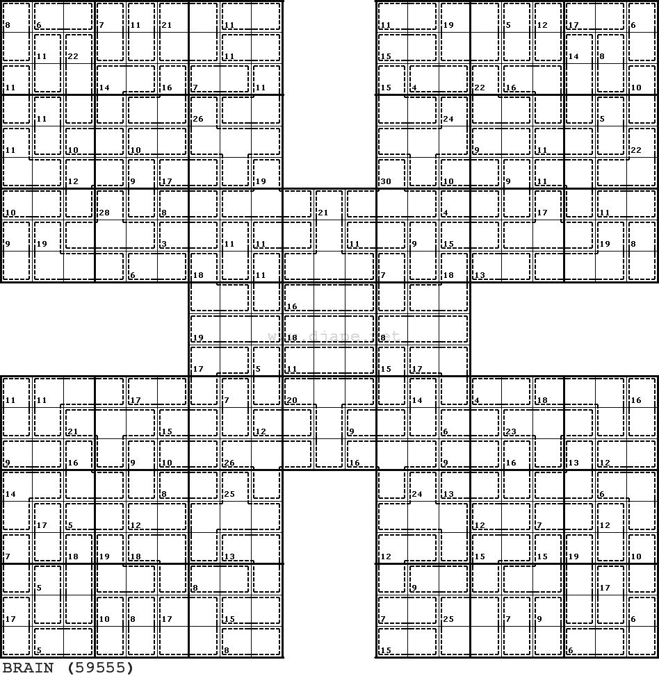 KILLER Samurai Sudoku | Sudoku | Pinterest