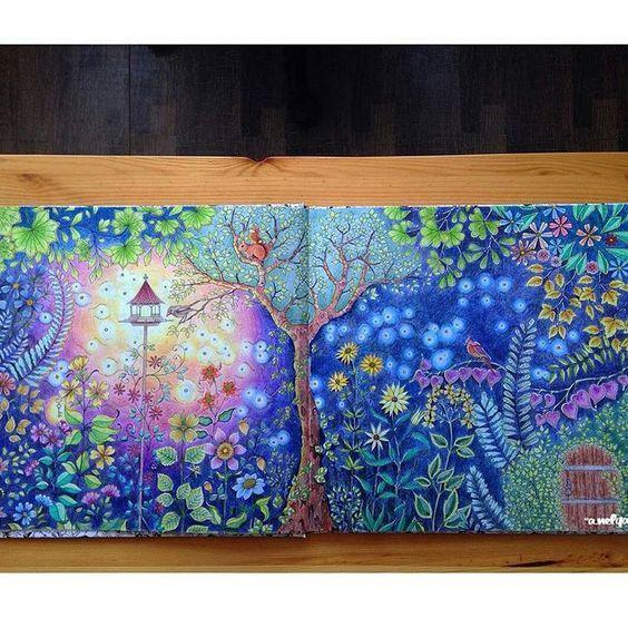 Image Secret Garden Johanna Basford Secret Garden Jardin Secret Coloriage Coloriage Jardin Secret Dessin Couleur