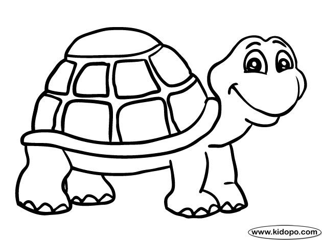 Turtle Coloring Pages Turtle 1 Coloring Page Preschool Craft