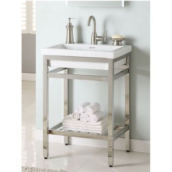 Empire south beach 24 console satin or polished stainless steel i need a new bathroom Stainless steel bathroom vanities