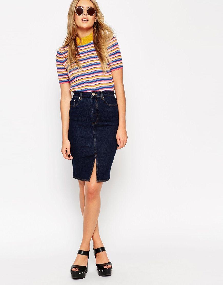 The absolute ultimate denim skirt