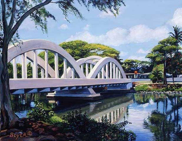 Bridge To Haleiwa By Lynne Boyer North Shore Oahu Haleiwa Oahu