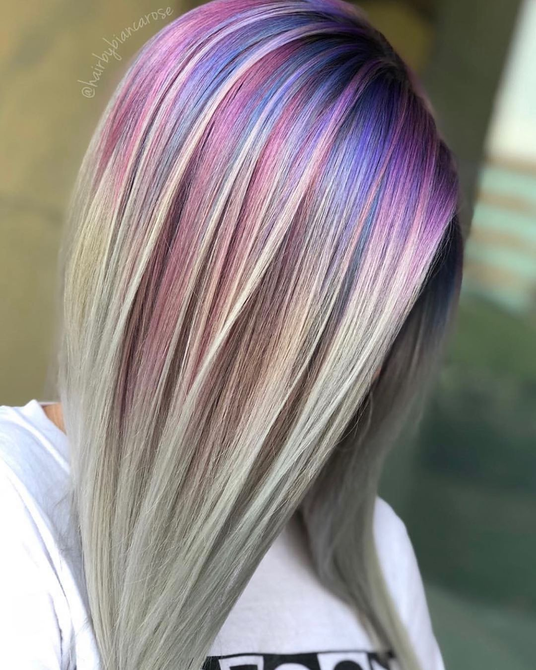 Saloncentric On Instagram Always Be A Unicorn Gorgeous Rainbow Roots From Hairbybiancarose Using Matrix Hair Color Hair Color Formulas Hair Color