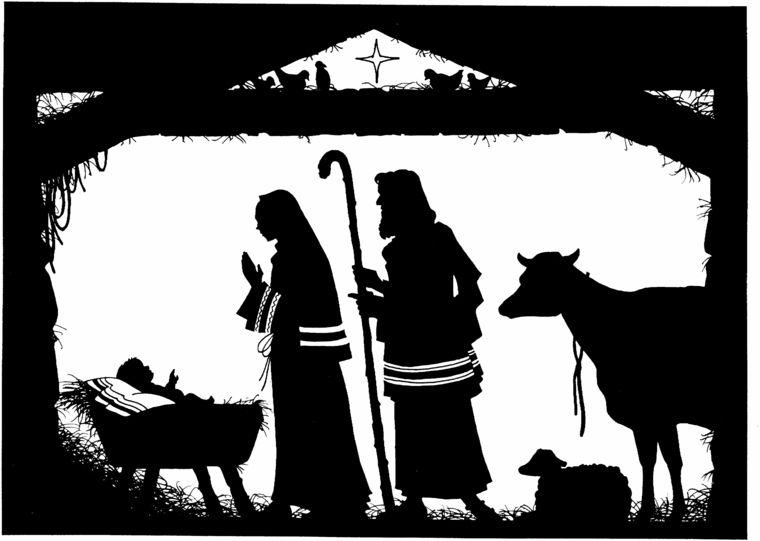 Immagini Natale In Bianco E Nero.Disegni Di Natale La Nativita In Bianco E Nero Un Idea
