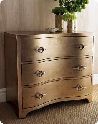Twice Lovely: Metallic Secretary Desk | Metallic painted furniture ...