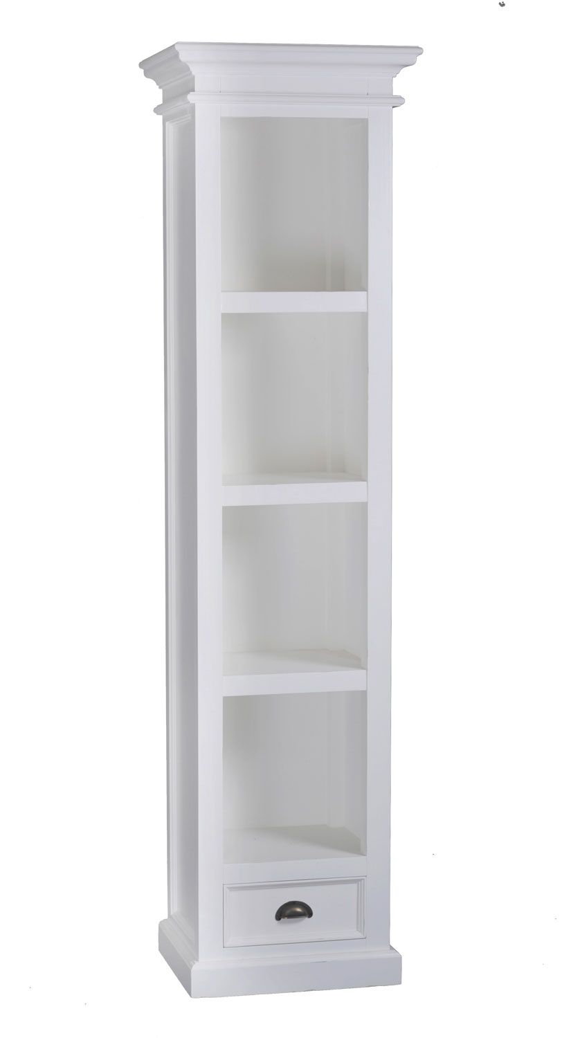 totem tall white modern blu bookcase bookcases narrow dot