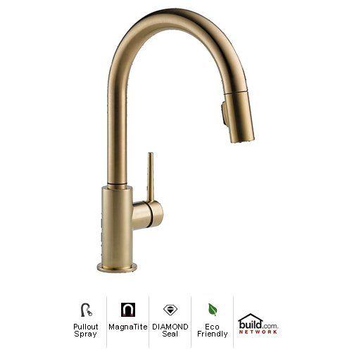 Delta 9159-CZ-DST Champagne Bronze Trinsic Pull-Down Spray Kitchen ...