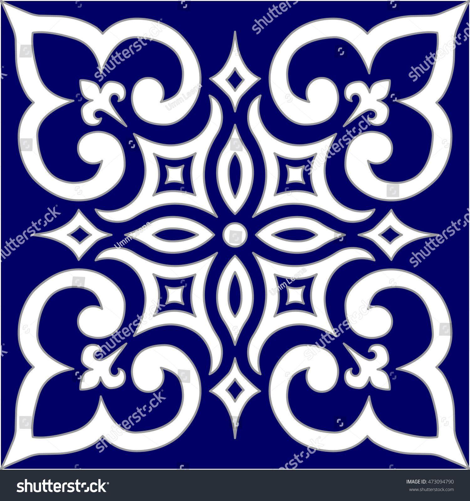 Patron Geometrico Islamico Arabesque Azul Blanco Stok Vektor Telifsiz 473094790 Dubai Arabesque Azul Blanco Dubai 2020 Arap Deseni Sanat Desen Stensiller