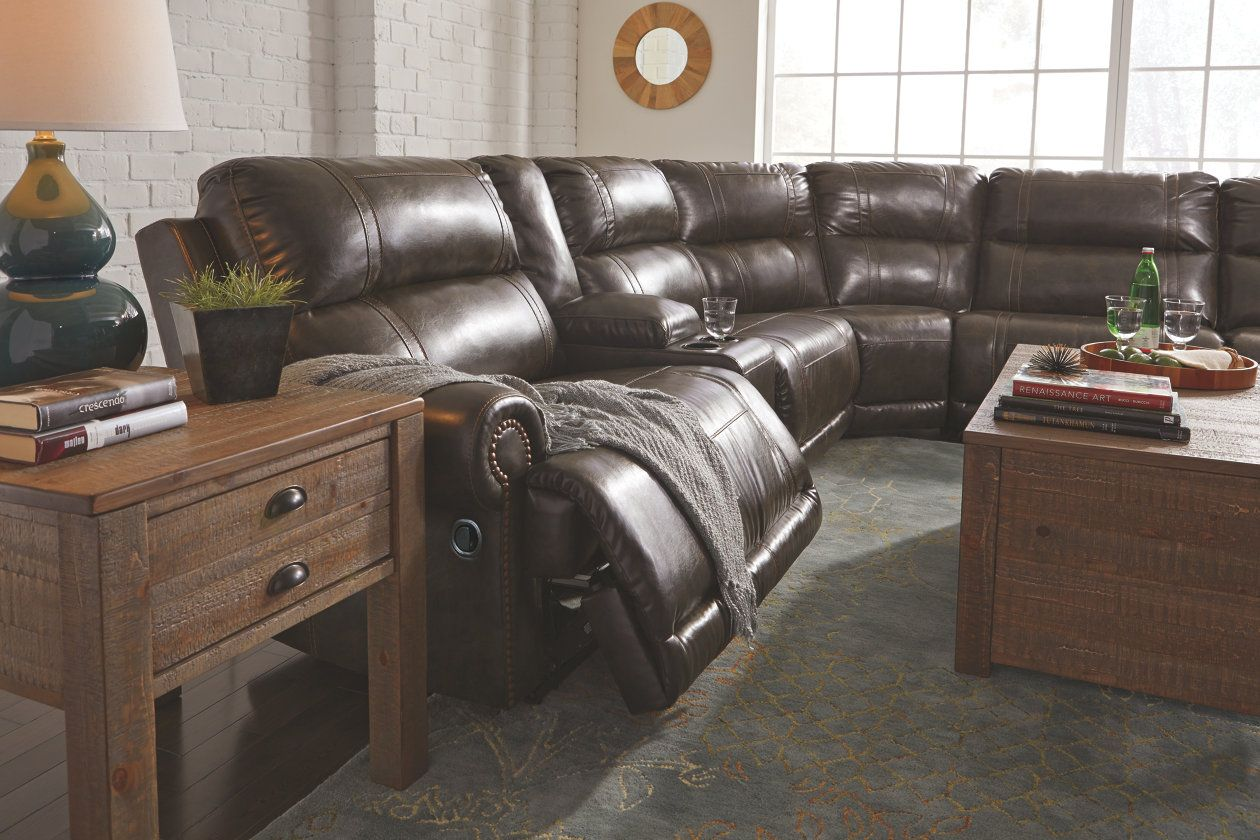 Cool Dak 6 Piece Reclining Sectional Non Power Ashley Furniture Bralicious Painted Fabric Chair Ideas Braliciousco