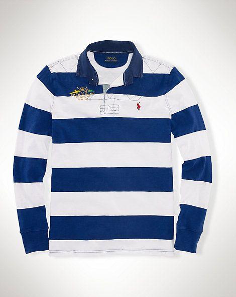 d9477e28019b Custom-Fit Striped Rugby Shirt - Rugby Shirts Men - Ralph Lauren UK ...