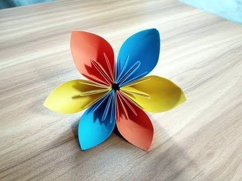 Origami Blumen Falten DIY Blumen Basteln Mit Papier Bastelideen Oste.
