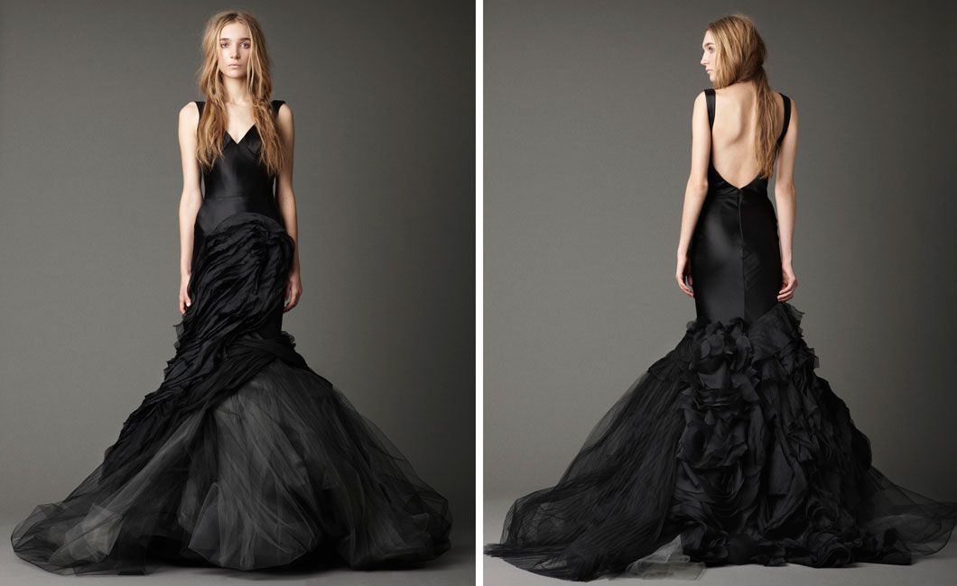 e47ce4b2cc4 elegant-vera-wang-black-wedding-dress-with-v-neckline