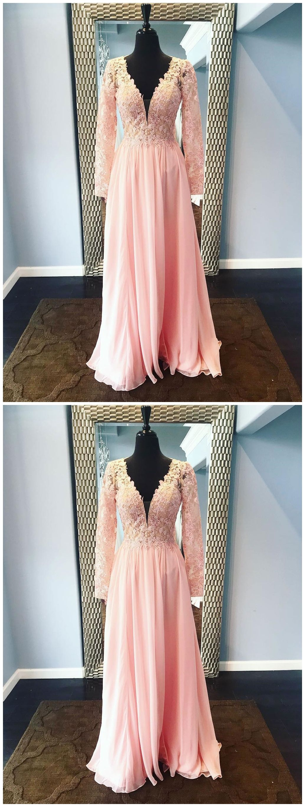 Long sleeve pink formal dresses plus size modest mother of the bride
