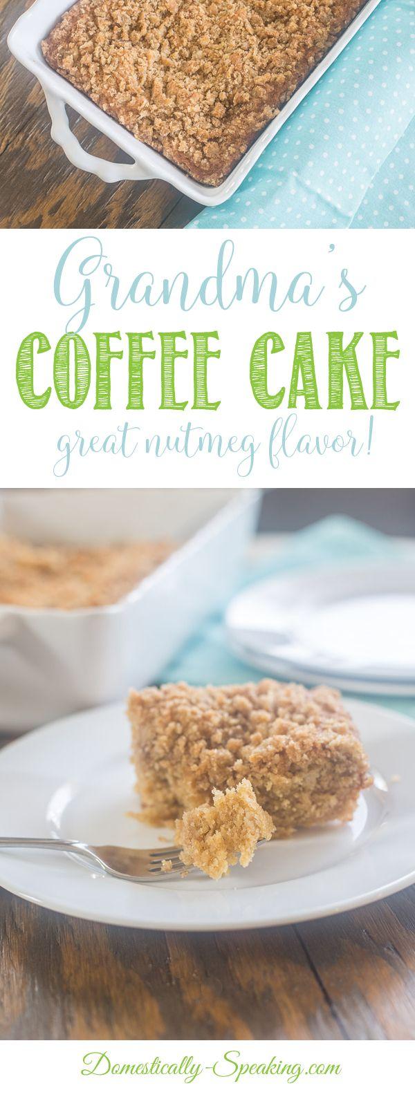 Grandma's Coffee Cake Recipe | Easy Coffee Cake | Nutmeg Coffee Cake perfect with a hot drink