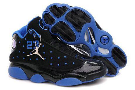new concept c5cdf 18ad1 black and blue   Cheap Jordans 13(XIII) Black Blue
