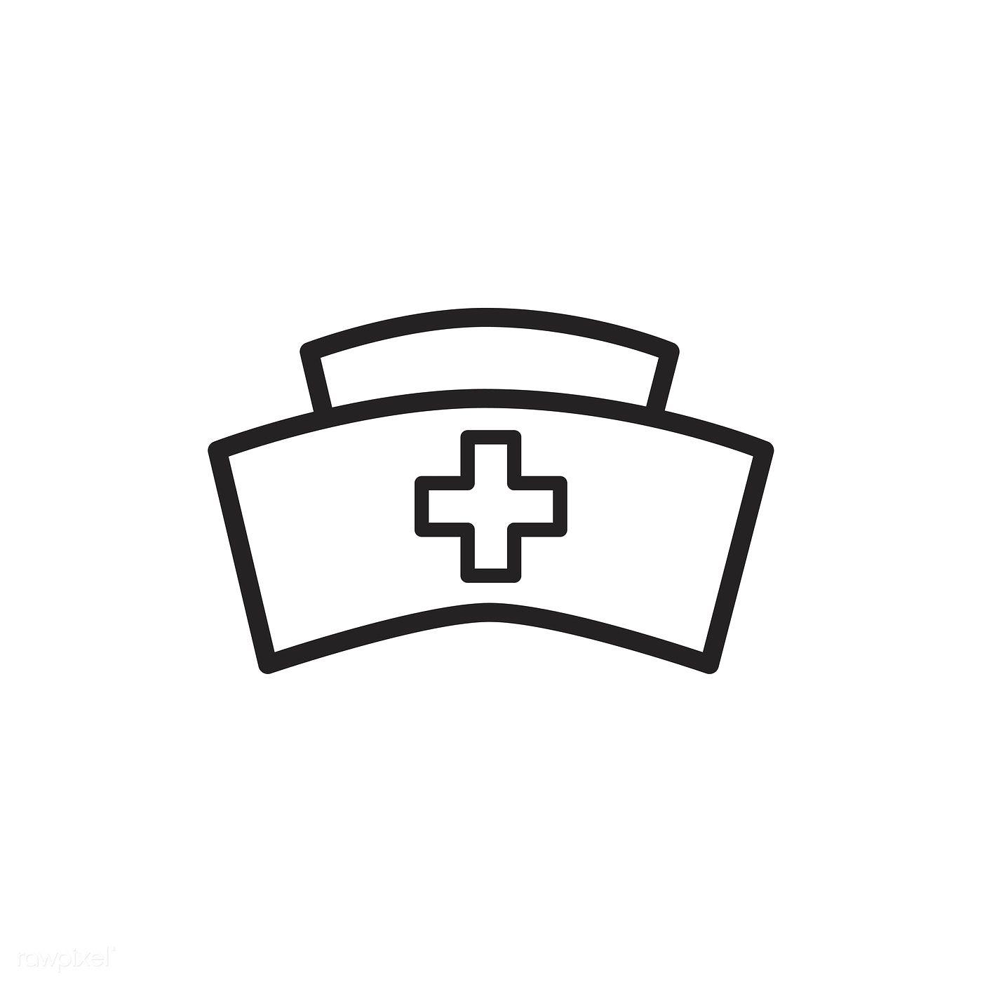 Download Premium Vector Of Nursing Cap Icon Vector 533356 Nurse Hat Nursing Cap Nurse Drawing
