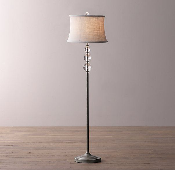 Floor Lamp Base Delectable Lourdes Crystal Ball Floor Lamp Base  House  Pinterest  Lamp Design Ideas