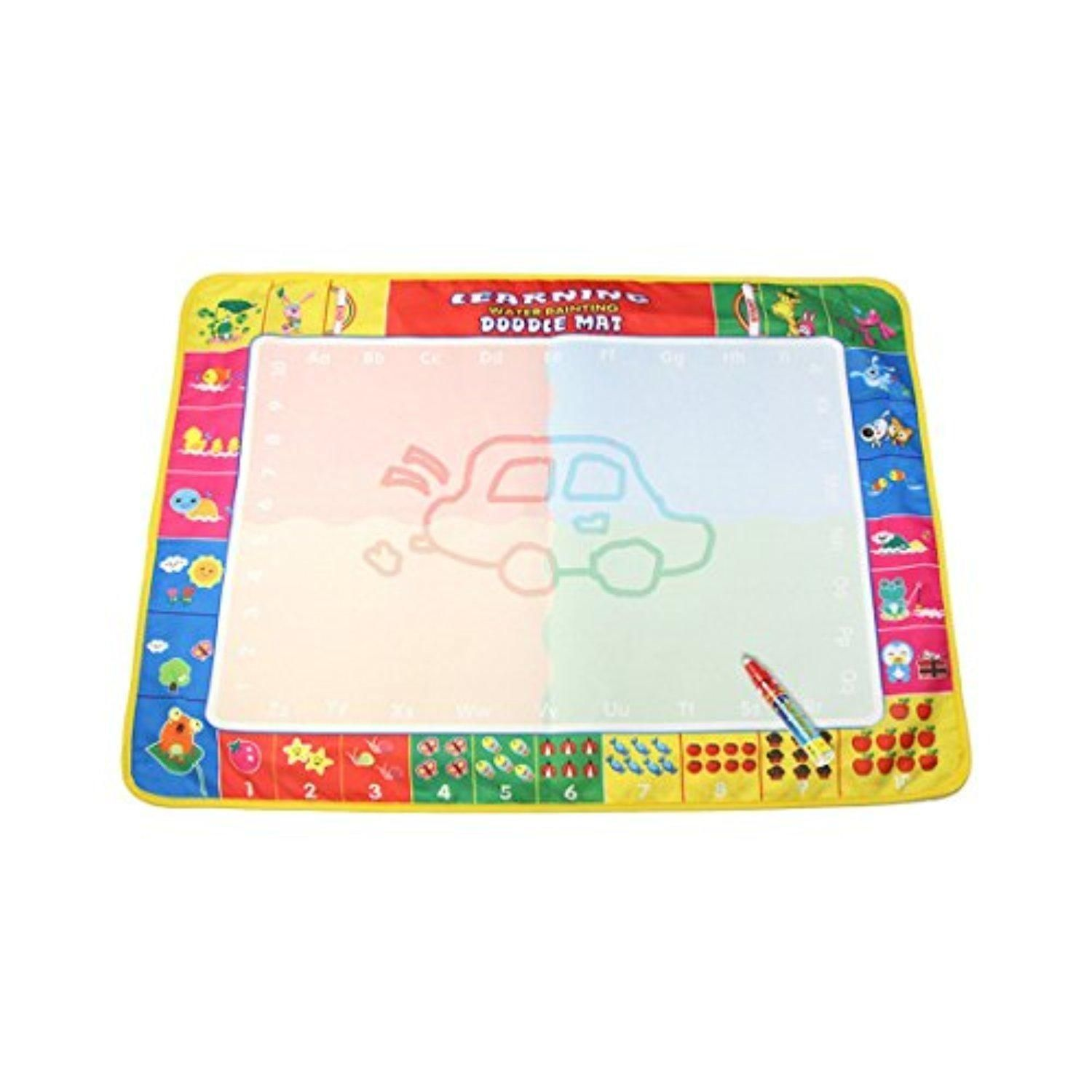 Coolplay Kids New Water Drawing Painting Writing Mat Board Magic Pen Doodle Toy Gift 80 X 60cm Box Packing Brought T Pen Doodles Water Drawing Drawing Toys