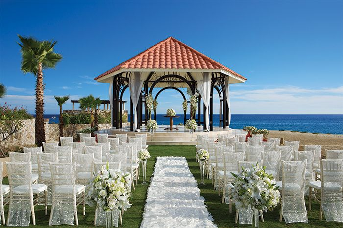 The Unique Gazebo At Secrets Puerto Los Cabos Offers Perfect Backdrop For A Destination Wedding