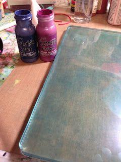 Tim Holtz Paints and my Gelli Plate claudinesartcorner.blogspot.com