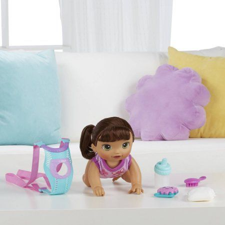 Baby Alive Baby Go Bye Bye Brunette Walmart Com In 2020 Baby Alive Taking Care Of Baby Baby