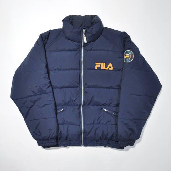 hög kvalitet New York försäljning Storbritannien Vintage FILA 90s Goose Down Feather Winter Snow Jacket / FILA ...