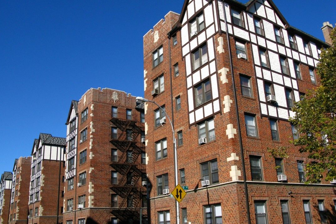 New York City Boroughs Queens Tudor Style Apartment Buildings Forest Hills Forest Hills Forest Hills Queens Forest