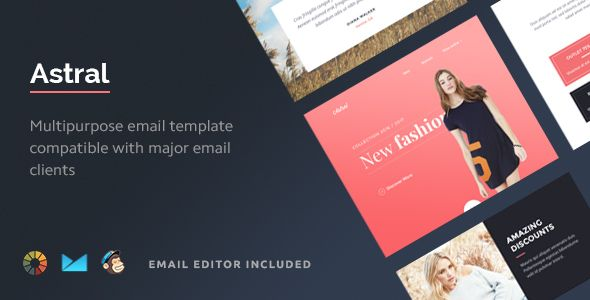 Astral Multipurpose Email Template Builder Modules And - Export mailchimp template